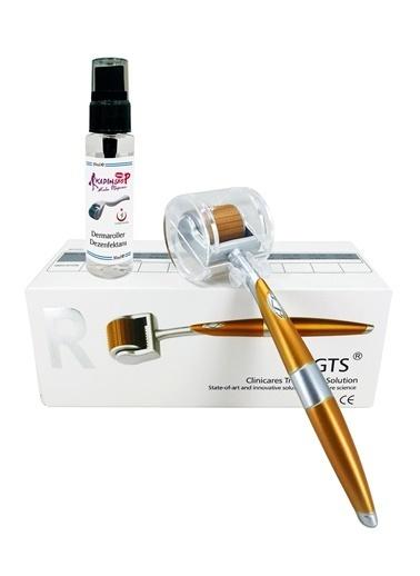 Zgts Dermaroller 0.25 mm Titanyum 192 İğneli Orijinal Gold Derma Roller Saç Yüz Vücut Renksiz